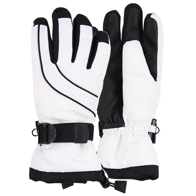 Women's 3M Thinsulate Lined Waterproof Ski Glove white black