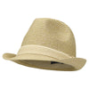 WOMENS STRETCH FIT STRAW FEDORA HAT (8 Band Color Options)