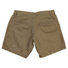 Women's Classic Flat Front Shorts long khaki back