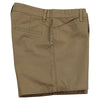 Women's Classic Flat Front Shorts long khaki side