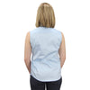 Sleeveless Button Down Cotton Shirt light blue model back