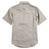 Women's Classic Cotton Shirt (Short Sleeve) gray back