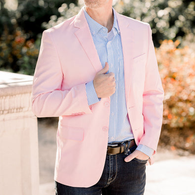 mens light pink blazer sport coat jacket cotton spandex
