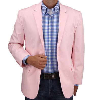 Mens Casual Blazer / Sport Coat (Light Pink)