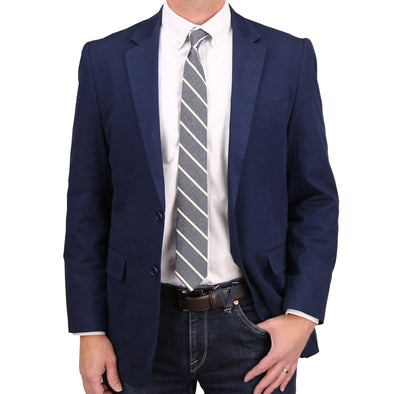 Mens Casual Blazer / Sport Coat (Navy)
