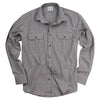 Men's Classic Brushed Chambray Shirt (Regular & Slim Fit, Light Gray)