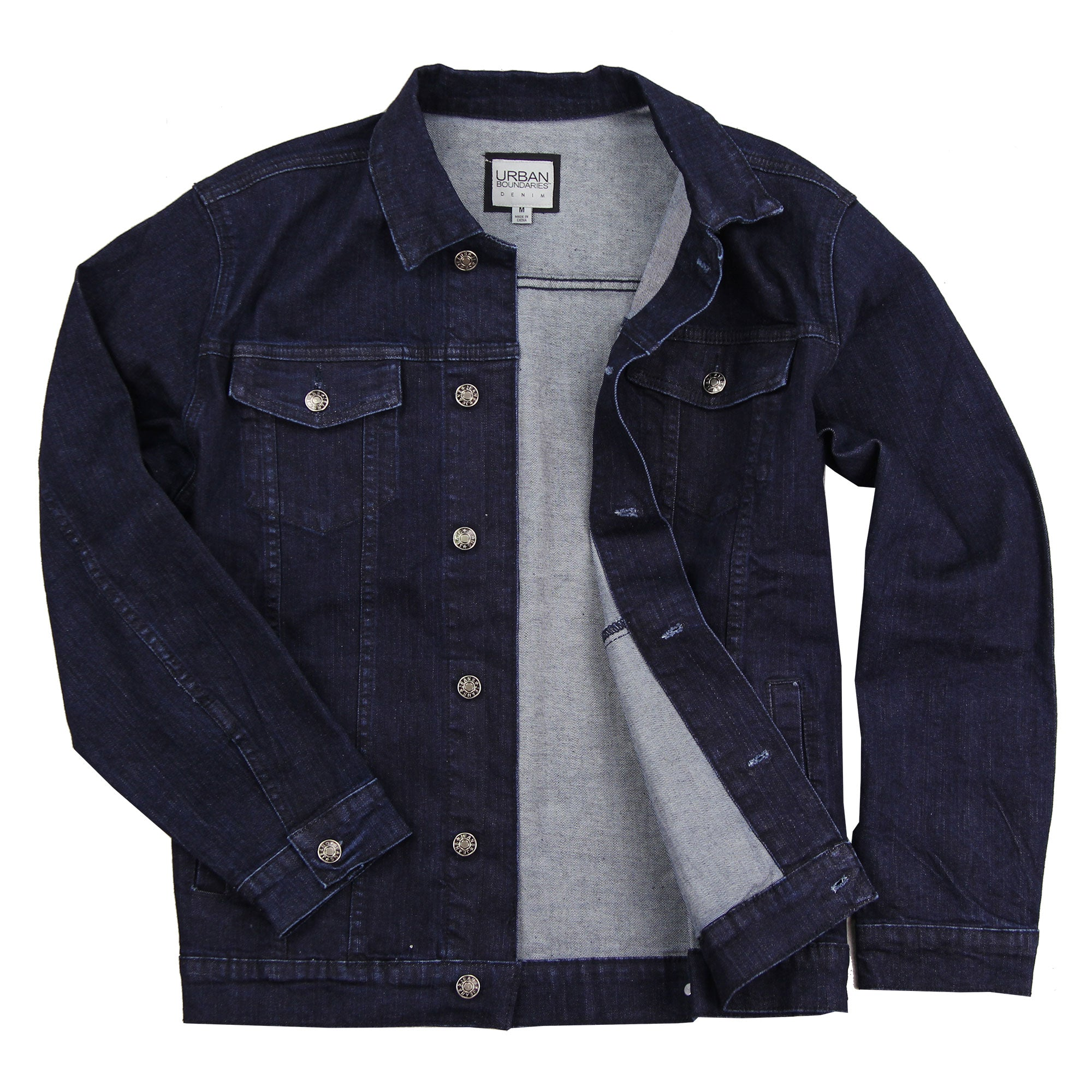 dark blue jean jacket mens