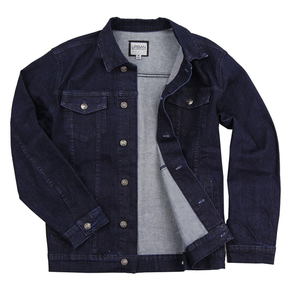 Men's Classic Comfort Fit Denim Jean Jacket Indigo