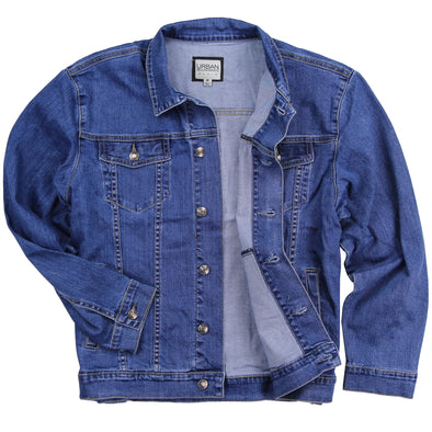 Men's Classic Comfort Fit Denim Jean Jacket blue