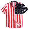 American Flag Patriotic Short Sleeve Shirt