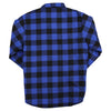 Men's Insulated Flannel Shirt Jacket navy black back