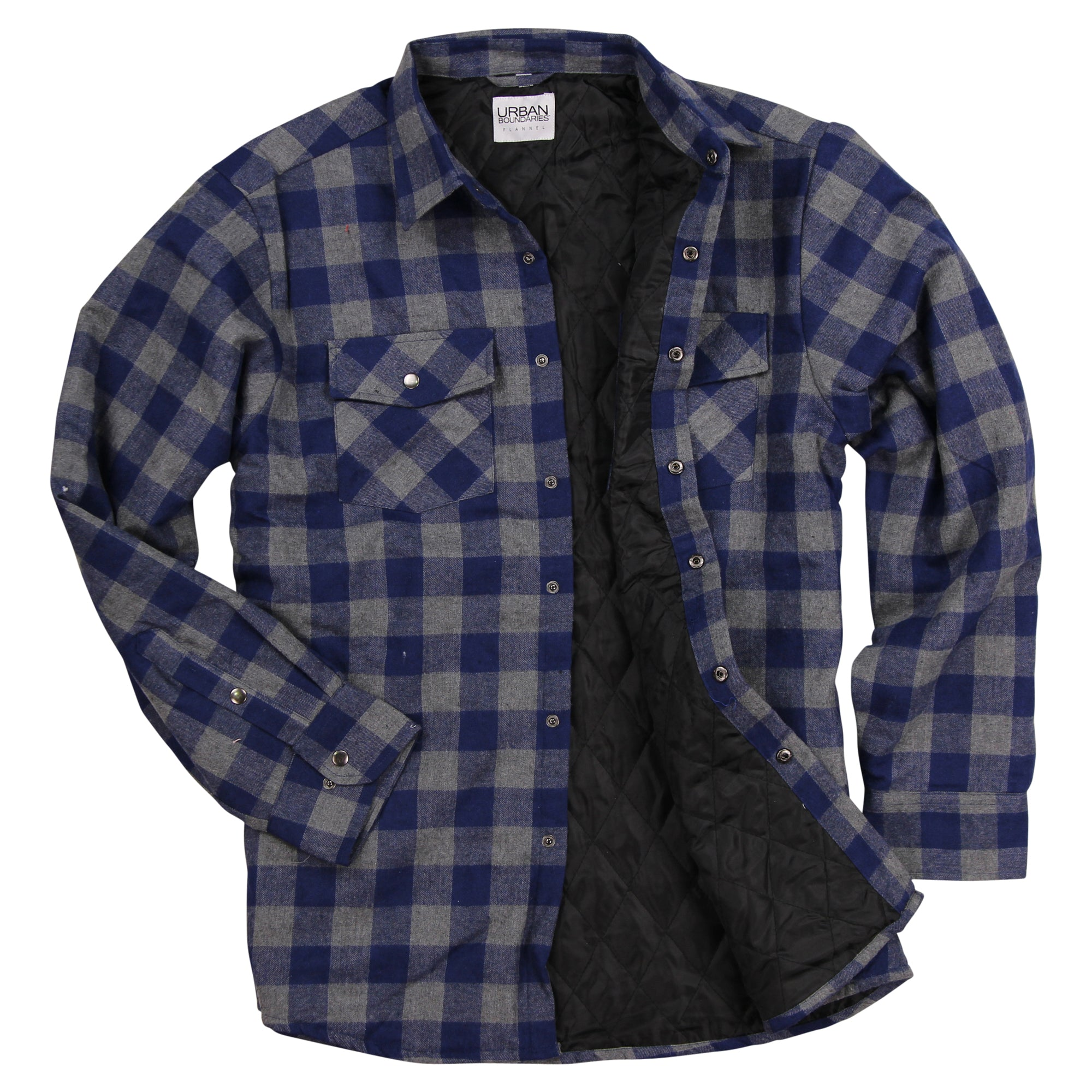Ely Cattleman Men/'s Plaid Quilted Flannel Jacket Shirt 15201421 /& 15201422