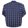 Men's Insulated Flannel Shirt Jacket blue grey back