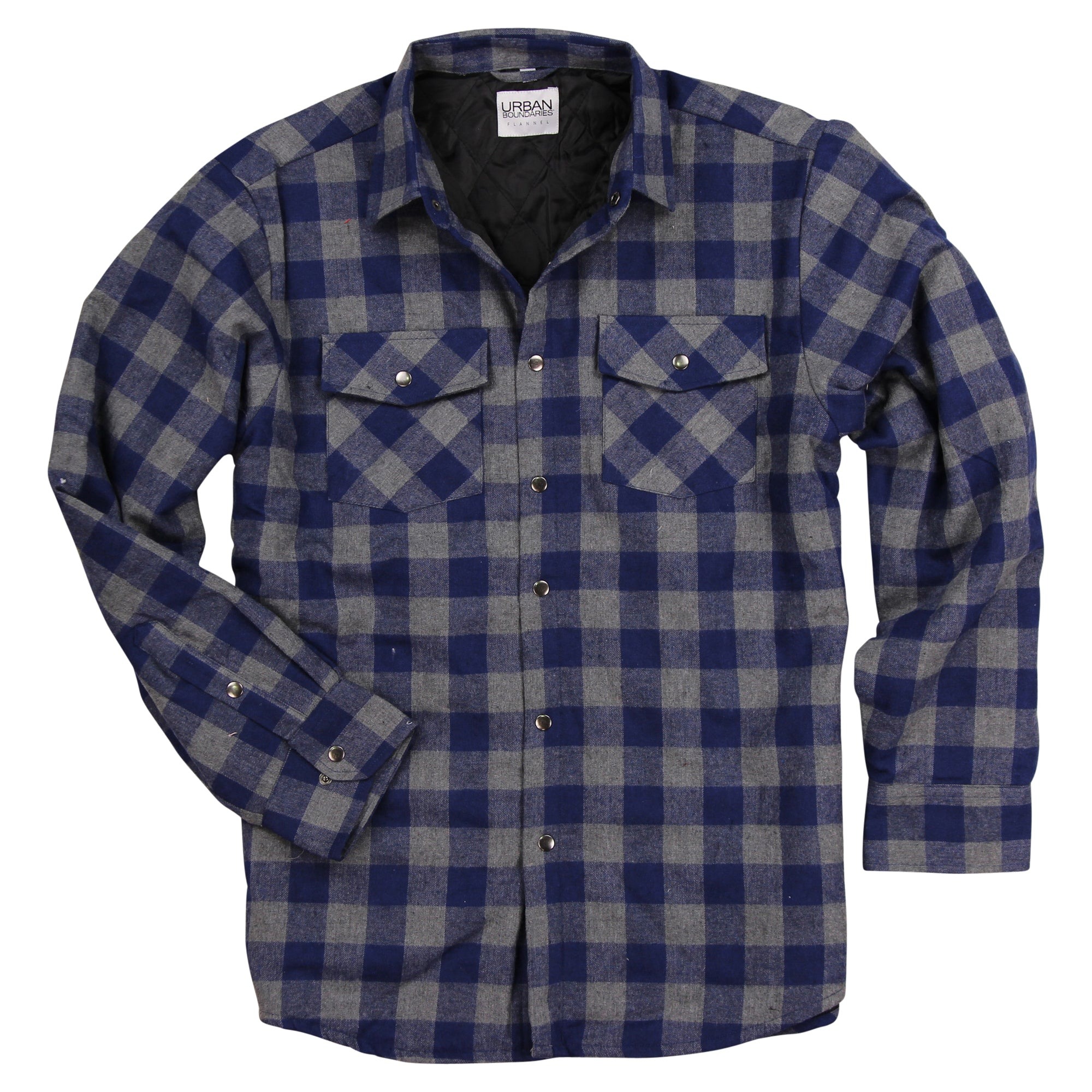 Mens Quilted Flannel Shirt Jacket