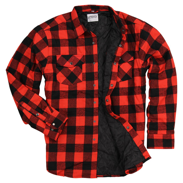 Men's Insulated Flannel Shirt Jacket