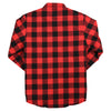 Men's Insulated Flannel Shirt Jacket red black back