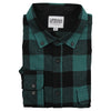 Men's Classic Flannel Shirt button down black green