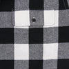 Men's Classic Flannel Shirt black white pocket