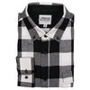 Men's Classic Flannel Shirt button black white