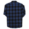 Men's Classic Flannel Shirt navy black back