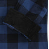 Men's Classic Flannel Shirt navy black alt cuff