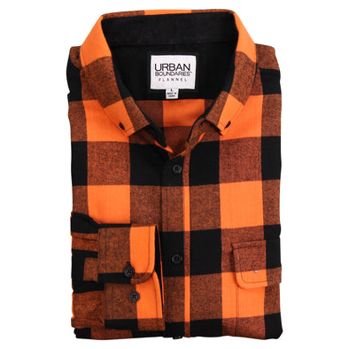 MEN'S CLASSIC FLANNEL SHIRT - REGULAR FIT (BUTTON DOWN & SPREAD COLLAR)