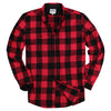 Men's Classic Flannel Shirt red black feat