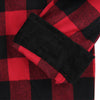 Men's Classic Flannel Shirt red black cuff