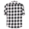 Men's Classic Flannel Shirt black white back