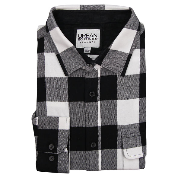 Men's Classic Flannel Shirt point black white