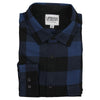 Men's Classic Flannel Shirt point navy black