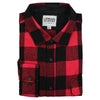 Men's Classic Flannel Shirt point red black