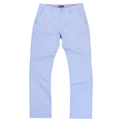 Men's Stetch Flat Front Casual Pants (Light Blue)