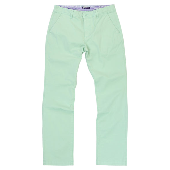 Men's Stetch Flat Front Casual Pants (Light Green)