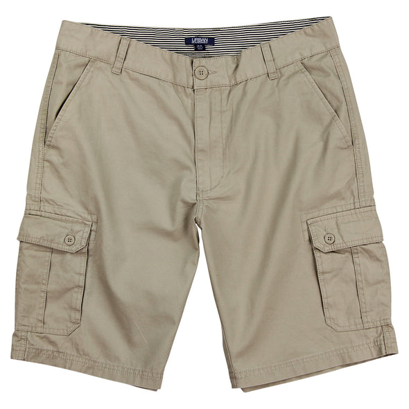 "Urban Boundaries brand cargo short - light khaki - men's 10"" inseam"