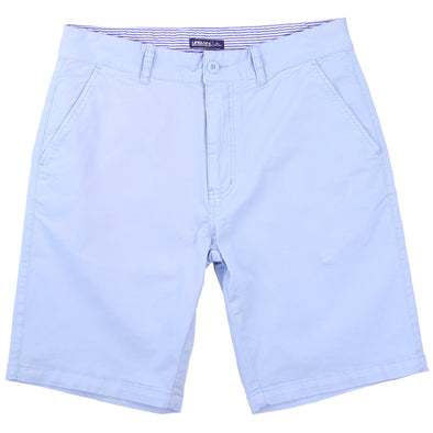 Men's Stretch Flat Front Short (Light Blue)