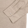 Women's Classic Brushed Chambray Long Sleeve Shirt khaki cuff