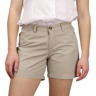 Women's Classic Flat Front Shorts light khaki model