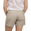 Women's Classic Flat Front Shorts light khaki model back