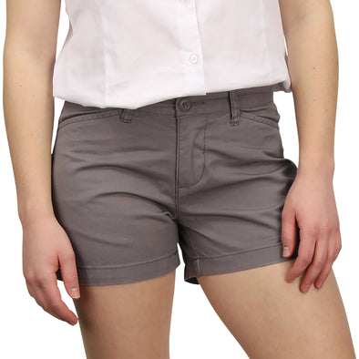 Women's Classic Flat Front Shorts gray model