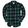 Women's Classic Flannel Shirt Green Black
