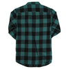 Women's Classic Buffalo Plaid Flannel Shirt black green alt
