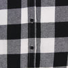 Women's Classic Flannel Shirt black white buttons