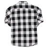 Women's Classic Flannel Shirt black white back