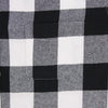 Women's Classic Flannel Shirt black white pocket
