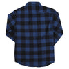 Women's Classic Flannel Shirt navy black back