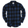 Women's Classic Flannel Shirt Navy Black