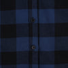 Women's Classic Flannel Shirt navy black buttons