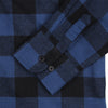 Women's Classic Flannel Shirt navy black cuff