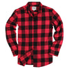 Women's Classic Flannel Shirt Red Black